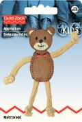 Prym Iron On Embroidered Motif Applique Teddy With Movable Arms & Legs