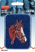 Prym Iron On Embroidered Motif Applique Horse's Head Patch