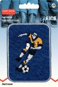 Prym Iron On Embroidered Motif Applique Football Player Patch