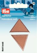 Prym Iron On Embroidered Motif Applique Small Triangle