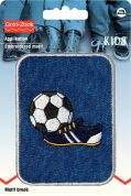 Prym Iron On Embroidered Motif Applique Rectangular Football Patch