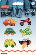 Prym Self Adhesive Embroidered Motif Applique Vehicles