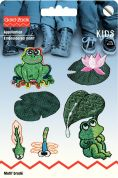 Prym Self Adhesive Embroidered Motif Applique Frog Pond