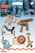 Prym Self Adhesive Embroidered Motif Applique Zoo