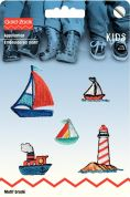 Prym Self Adhesive Embroidered Motif Applique Ships
