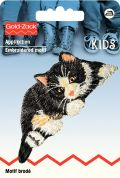Prym Iron On Embroidered Motif Applique Black & White Cat