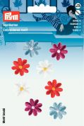 Prym Self Adhesive Embroidered Motif Applique Multicoloured Flowers