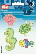 Prym Self Adhesive Embroidered Motif Applique Marine Creatures
