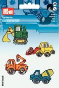 Prym Self Adhesive Embroidered Motif Applique Building Contractor Vehicles