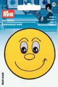 Prym Iron On Embroidered Motif Applique Laughing Yellow Face