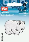 Prym Iron On Embroidered Motif Applique Polar Bear