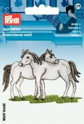 Prym Iron On Embroidered Motif Applique White Horse