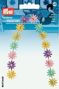 Prym Iron On Embroidered Motif Applique Multicoloured Flower Tendril