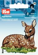 Prym Iron On Embroidered Motif Applique Deer Lying Down