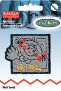 Prym Self Adhesive Embroidered Motif Applique Girl
