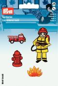Prym Self Adhesive Embroidered Motif Applique Fire Brigade