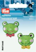 Prym Iron On Embroidered Motif Applique Frog's Heads