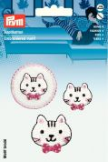 Prym Self Adhesive Embroidered Motif Applique Cats' Faces