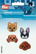 Prym Self Adhesive Embroidered Motif Applique Dogs Faces