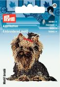 Prym Iron On Embroidered Motif Applique Yorkshire Terrier