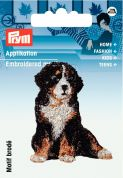 Prym Iron On Embroidered Motif Applique Mountain Dog