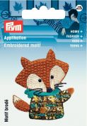 Prym Iron On Embroidered Motif Applique Multicoloured Fox
