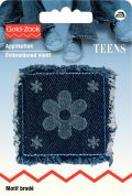 Prym Iron On Embroidered Motif Applique Flower Square For Jeans