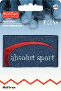 Prym Iron On Embroidered Jeans Label Motif Absolute Sport