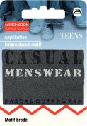 Prym Iron On Embroidered Jeans Label Motif Casual Menswear