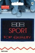 Prym Iron On Embroidered Jeans Label Motif Sport Top Quality