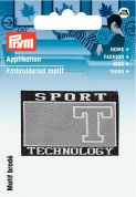 Prym Iron On Embroidered Label Motif Applique Sports T