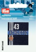 Prym Iron On Embroidered Label Motif Applique Athletic 43