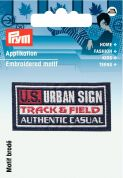 Prym Iron On Embroidered Label Motif Applique U.S. Urban Sign