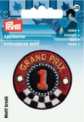 Prym Iron On Embroidered Applique Patch Round Grand Prix