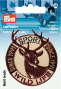Prym Iron On Embroidered Applique Patch Wild Life Stag
