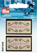 Prym Iron On Embroidered Label Motif Applique Made With Love