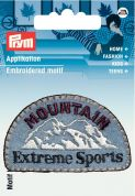Prym Iron On Embroidered Label Motif Applique Mountain