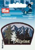 Prym Iron On Embroidered Label Motif Applique Alpine