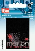 Prym Iron On Embroidered Label Motif Applique Motion