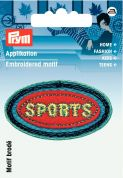 Prym Iron On Embroidered Applique Patch Sports