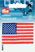 Prym Iron On Embroidered Motif Applique American Flag