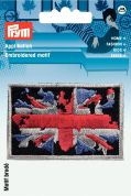 Prym Iron On Embroidered Motif Applique Retro Style Union Jack
