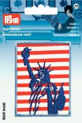 Prym Iron On Embroidered Motif Applique Statue Of Liberty