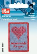 Prym Exclusive Handmade Embroidery Label Motif  Blue & Red