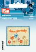 Prym Exclusive Handmade Flowers Label Motif  Multicoloured
