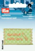 Prym Exclusive Handmade Quilting Label Motif  Light Green