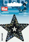 Prym Iron On Embroidered Motif Applique Star With Sequins