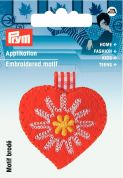 Prym Iron On Embroidered Motif Applique Country Style Heart