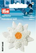 Prym Iron On Embroidered Motif Applique Edelweiss