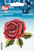Prym Iron On Motif Applique Embroidered Red Rose